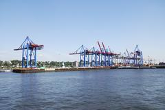 Hamburg port - stock photo