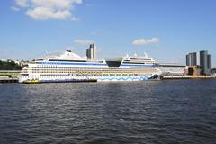 Cruise ship AIDAblu - stock photo