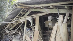 House after disaster Stock Footage
