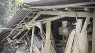 Stock Video Footage of House after disaster