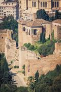 Stock Photo of The Alcazaba of Malaga, Andalusia Spain