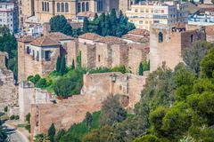 The Alcazaba of Malaga, Andalusia Spain Stock Photos