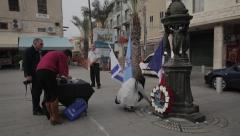ISRAEL-HAIFA, NOV. 2015: Support action of Haifa after act of terror in France Stock Footage