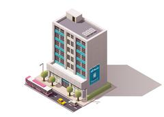 Vector isometric office building Stock Illustration