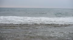 View of Blue sea with waves and sky Stock Footage
