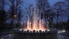Queens Jubliee Water Fountain Windsor - stock footage