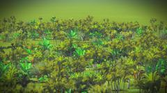 Lush vegetation in jungle Stock Illustration