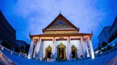 wat Phutthaisawan The oldest temple in Bangkok, Thailand - stock footage