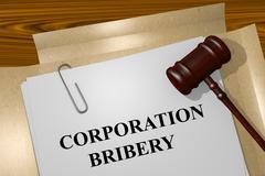 Corporation Bribery concept Stock Illustration