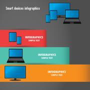 The smart gadgets, infographics - stock illustration