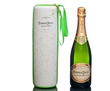 Champagne bottle with enchanting nature case Stock Photos
