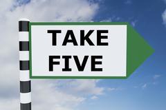 Take Five concept Stock Illustration