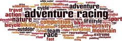 Adventure racing word cloud Stock Illustration