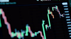 Stock market tickers moving. 4K. Stock Footage