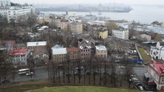 Nizhny Novgorod, Russia ,Top view of the historic city center and Stock Footage