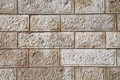 Wall of white stones Stock Photos