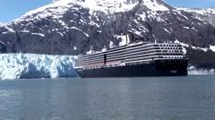 Cruise Ship in Alaska Stock Footage