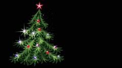 Dancing Christmas tree. 2D computer seamless animation Stock Footage