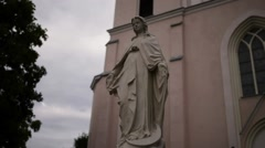 Transfiguration of Lord Church in Piatnica, Poland - stock footage