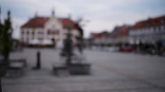 Old city in Pisz, Poland Stock Footage