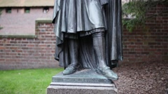 Statues of Grand Master of Teutonic Order, Malbork Stock Footage