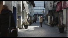 Dolly in Alley (Yorkville - Toronto) Stock Footage