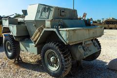 Old Scout car Ford Mk. 1, LYNX 1. Latrun, Israel Stock Photos