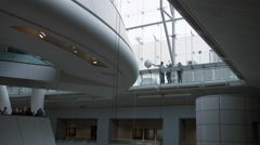 Students and tourists, people at Museum of Natural History Planetarium in 4K - stock footage