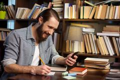 Modern technology helps you to study well Stock Photos