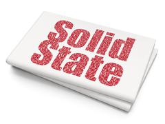 Science concept: Solid State on Blank Newspaper background Stock Illustration