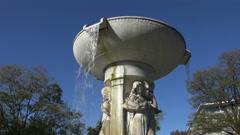 Dupont Circle fountain, Washington, DC Stock Footage