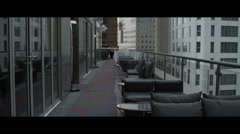 Outdoor lounge patio Stock Footage
