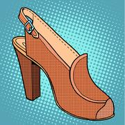 Retro shoes womens - stock illustration