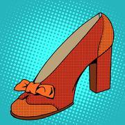 Retro shoes womens Stock Illustration