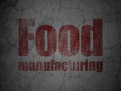 Industry concept: Food Manufacturing on grunge wall background Stock Illustration
