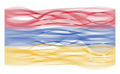 Wave line flag of Armenia - stock illustration