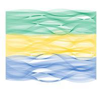 Wave line flag of Gabon Stock Illustration