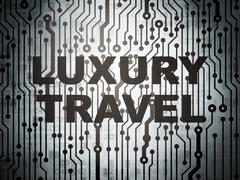 Tourism concept: circuit board with Luxury Travel - stock illustration