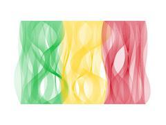 Wave line flag of Mali Stock Illustration