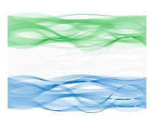 Wave line flag of Sierra Leone Stock Illustration