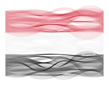 Wave line flag of Yemen - stock illustration