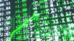 Bull Market visualization Stock Footage