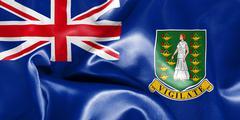 British Virgin Islands Flag - stock illustration