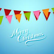 Stock Illustration of Merry Christmas. Holiday Vector Illustration.