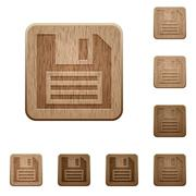 Stock Illustration of Save wooden buttons