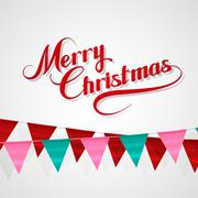Merry Christmas. Holiday Vector Illustration. - stock illustration