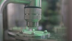 Dairy plant conveyor Stock Footage