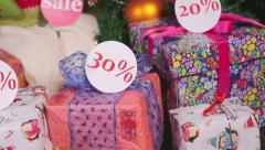 Gifts with discounts Stock Footage
