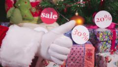 Cristmas sales Stock Footage