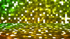 Broadcast Firey Light Hi-Tech Squares Stage 02 - stock footage